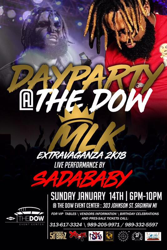 Day Party Event Poster for MLK Day